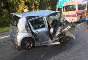 Kereta dipandu hilang kawalan, doktor HTF maut kemalangan