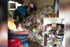 Dua kanak-kanak tinggal di 'rumah sampah' diselamatkan