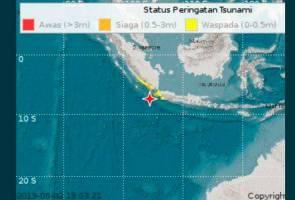 Gempa bumi Jakarta: Ini lima kawasan dikeluarkan amaran tsunami