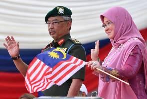 Telatah comel Sultan Abdullah, Tuanku Azizah ceriakan sambutan Hari Kebangsaan 2019