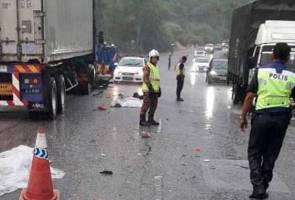 Dua kemalangan, tiga maut dalam tempoh sejam
