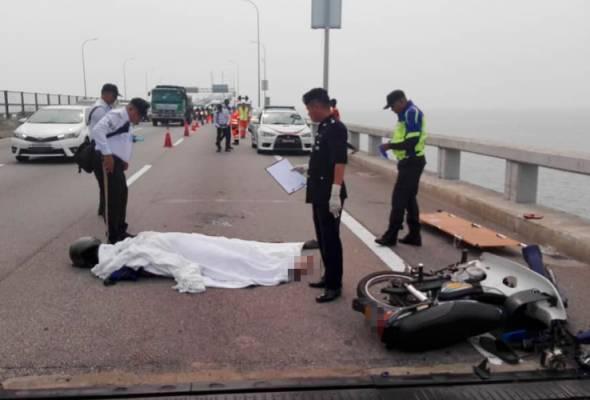 Penunggang motosikal maut digilis lori di Jambatan P. Pinang