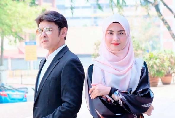 Jamal dan Wany Hasrita ditemui pada majlis makan tengah hari pelancaran single duet berjudul Belenggu Rindu di Sukasucre Cafe di sini pada Rabu. - Foto Instagram @wanyhasnizers | Astro Awani