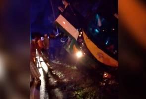 Bas bawa rombongan sekolah ke Langkawi terbabas, tiada kemalangan jiwa