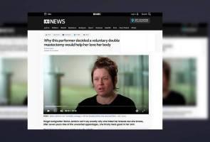 Penyanyi Australia buang payudara kerana tidak suka 'asetnya'