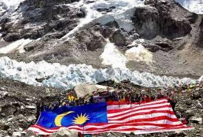 26 pendaki rentang Jalur Gemilang gergasi di Everest Base Camp