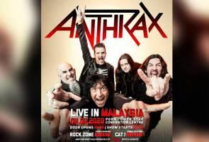 Anthrax bakal tampil dalam konsert julung kali di tanah air tahun depan