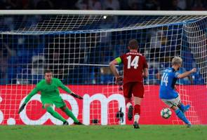 Liga Juara-Juara Eropah: Liverpool tewas pada aksi pembukaan menentang Napoli