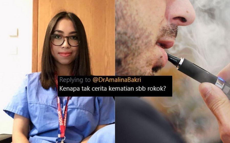 Vape membunuh? Netizen tak puas hati dengan pandangan Dr Amalina
