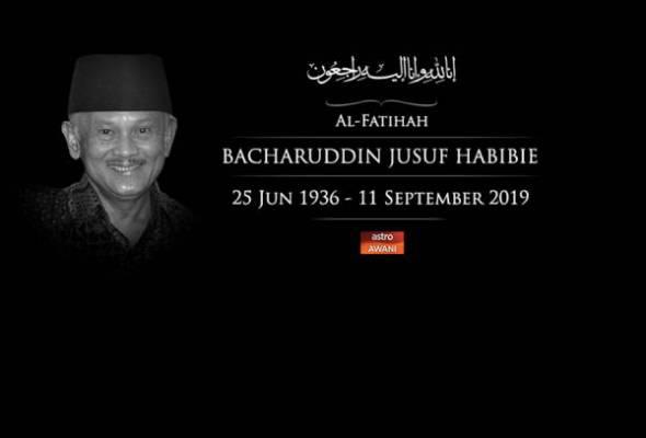 BJ Habibie menghembuskan nafas terakhir pada usia 83 tahun di Jakarta, Indonesia. - Gambar fail | Astro Awani