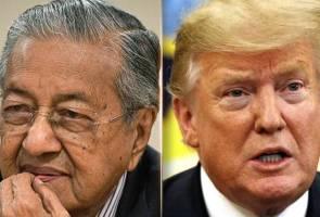 """""""Saya tidak akan bertemu Trump"""" - Dr Mahathir"""
