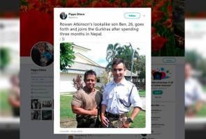 Anak lelaki Mr Bean sertai tentera Gurkha
