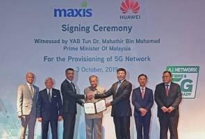 Maxis, Huawei tandatangani perjanjian peruntukan rangkaian 5G