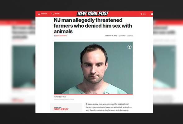 Lelaki ancam peladang untuk beri izin lakukan seks dengan haiwan ternakan