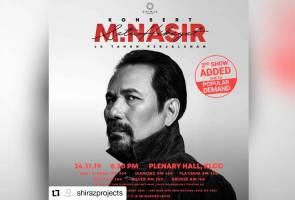 Konsert solo M. Nasir dilanjutkan satu malam lagi