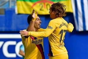 Gandingan dengan Messi, Suarez bertambah baik - Griezmann