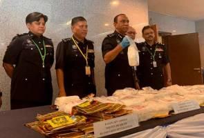 121kg dadah bernilai RM6.45 juta dirampas dalam operasi satu hari