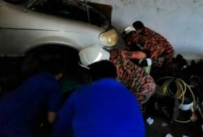 Mekanik cedera tersepit ketika sedang baiki kereta
