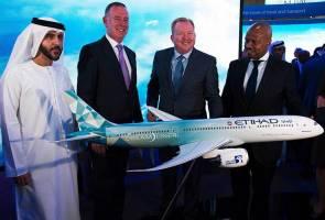 Etihad Airways lancar pesawat cekap bahan bakar