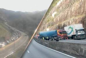 Lori tangki terbabas dekat Terowong Menora, trafik sesak 7km
