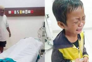Kanak-kanak meratap mayat ibu dilanggar kereta