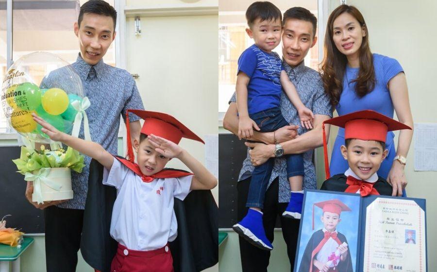 'Bayangkan beritahu kawan bapa kau adalah...' - Tamat tadika, netizen usik anak Lee Chong Wei