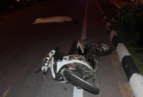 Maut dilanggar selepas terjatuh motosikal
