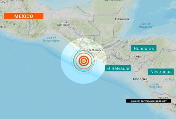 Gempa 5 6 Magnitud Gegar Guatemala Astro Awani