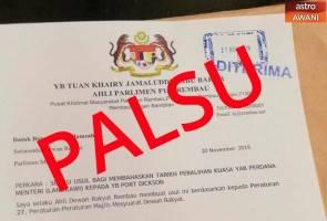 """""""Surat itu palsu"""" - Khairy jawab dakwaan tulis surat mohon bahas isu peralihan kuasa PM"""