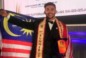 Wakil Malaysia muncul naib juara di pertandingan Gentlemen of the World, menang anugerah  'Best Body'