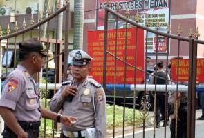 1 maut, 6 cedera dalam serangan bom bunuh diri di balai polis Medan