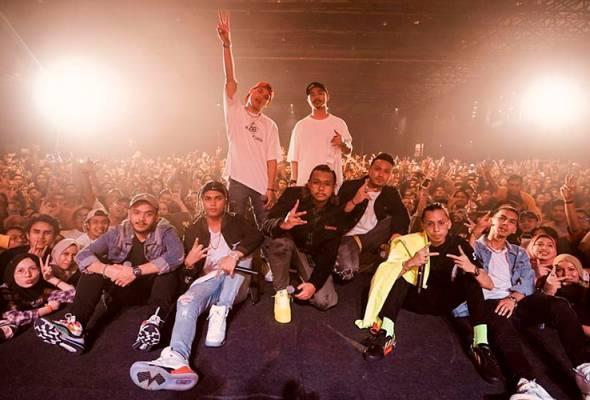 K-Clique artis tempatan paling banyak distrim pada 2019