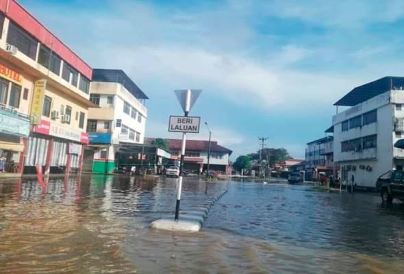 Air banjir dibimbangi semakin naik, penduduk Marudi diminta berwaspada