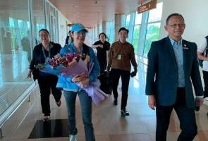 Michelle Yeoh tiba di Kuching sempena SAREF 2019