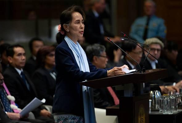 Suu Kyi pertahan tentera Myanmar, dakwa kenyataan Gambia menyimpang