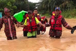 Mangsa banjir di Johor meningkat mendadak kepada 3,835 orang pagi ini