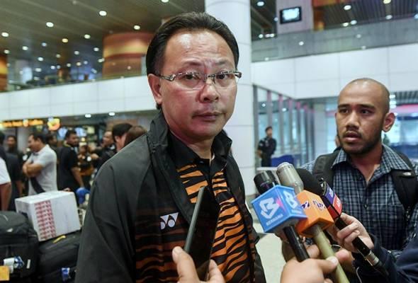 Kim Swee ketika sidang media selepas tiba dari Sukan SEA Filipina di Lapangan Terbang Antarabangsa Kuala Lumpur (KLIA) semalam, 5 Dis, 2019. -fotoBERNAMA | Astro Awani