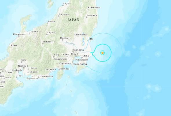 Gempa 5.9 magnitud gegar pantai timur Jepun