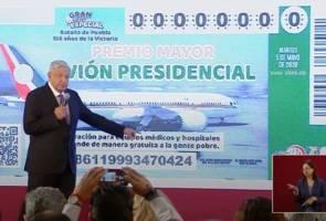 Jual pesawat khas presiden melalui loteri US$6 juta