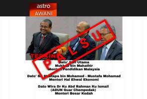 Berita palsu, laporan ini tidak pernah diterbitkan Astro AWANI