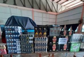 Polis Marin Perak rampas minuman keras lebih RM100,000