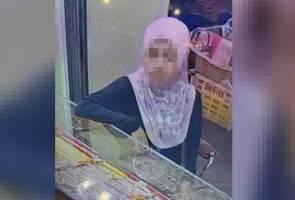 Wanita suspek curi barang kemas RM10,000 diburu polis