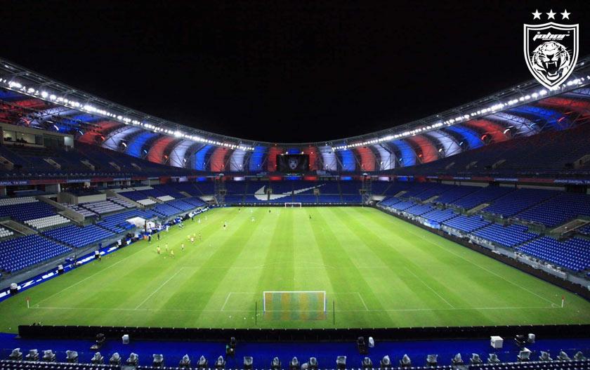 Gambaran bahagian dalam stadium berkapasiti 40,000 penonton. - Facebook/JDT