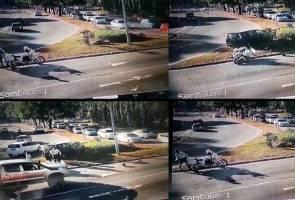Anggota polis trafik dirempuh ketika sedang bertugas