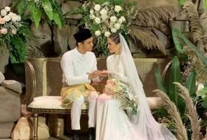 Sekali lafaz, Aiman Hakim dan Zahirah MacWilson sah bergelar suami isteri