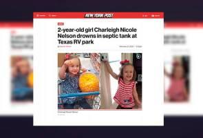 Budak 2 tahun maut selepas terjatuh dalam tangki septik