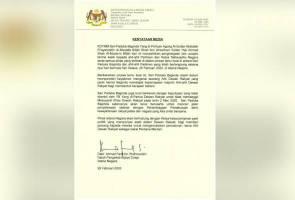 YDP Agong akan adakan pertemuan dengan ketua-ketua pimpinan parti politik - Istana Negara