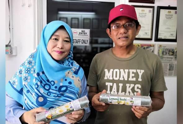 Pengusahanya, Zuriati Sulaiman, 52, berkata lemang sushi merupakan cetusan idea suaminya Azizi Abd Muin, 55, empat tahun lalu.