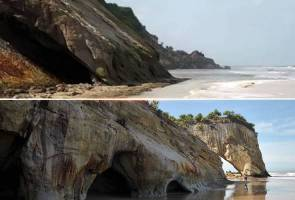 Lambang ikonik pelancongan Sarawak, Tusan Cliff runtuh