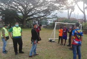 Seven men arrested for playing football, jogging during MCO